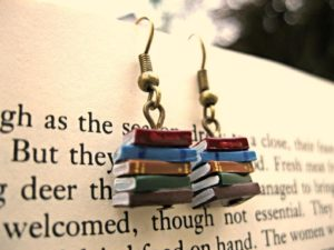 book jewelry, gifts for writers, readers, and book lovers