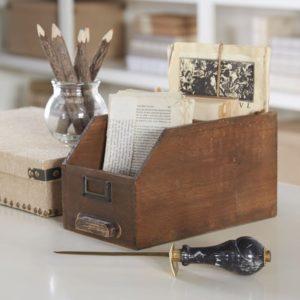 card catalog desk organizer, writers gift