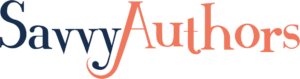 savvyauthors logo, points to their list of writing classes