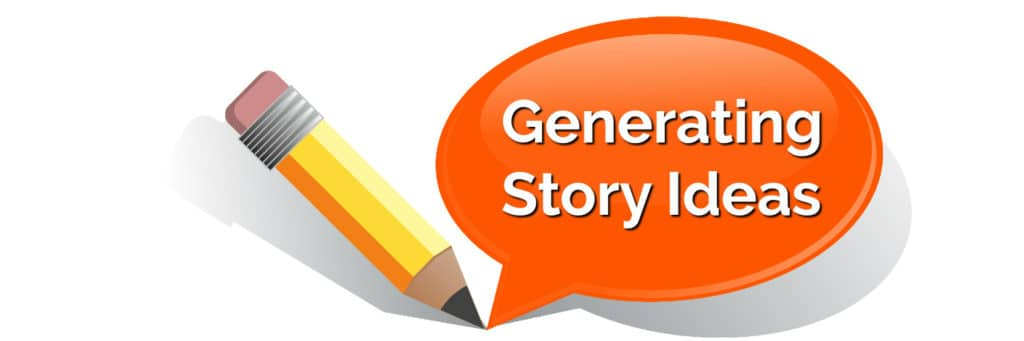 generating story ideas in caption with pencil