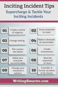 inciting incidents in fiction, a list of ten