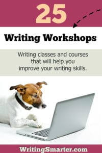 writing workshops, writing classes, and writing courses